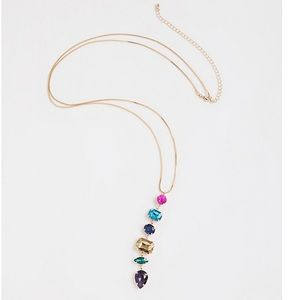 3/$50 NWT Torrid multi drop gem pendant necklace